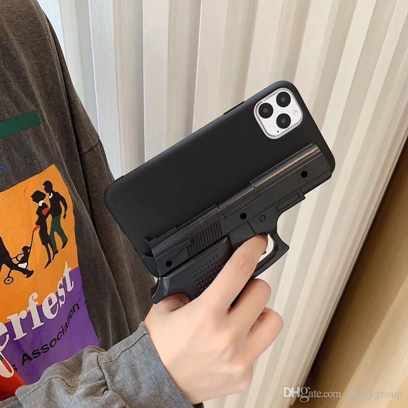 designer de moda de luxo 3D Casos Gun Telefone interessantes para iphone 11 Pro Max X XS Max XR 7 8 mais suave silicone pistola de brinquedo telefone tampa traseira