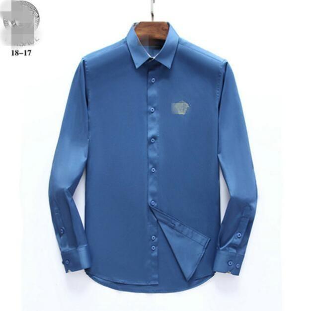 2020 neues langärmeliges T-Shirt für Männer im Frühjahr und Herbst trägt, schlicht und lässig Kleid T-Shirt in der einfachen Farb