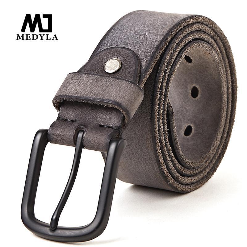 Для мужчин джинсы повседневные брюки Medyla Кожа кэжуал ремня мужской кожаный ремень для мужчин Подарки Длина: 130см Wide 3.8cm Q190417