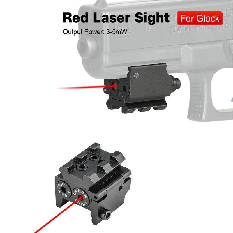 20mm 레일 마운트에 대한 글로 CK는 권총 에어건 소총 야외 훈련 CQB 물 총알 총 무료로 HQ 전술 미니 레드 닷 레이저 시력
