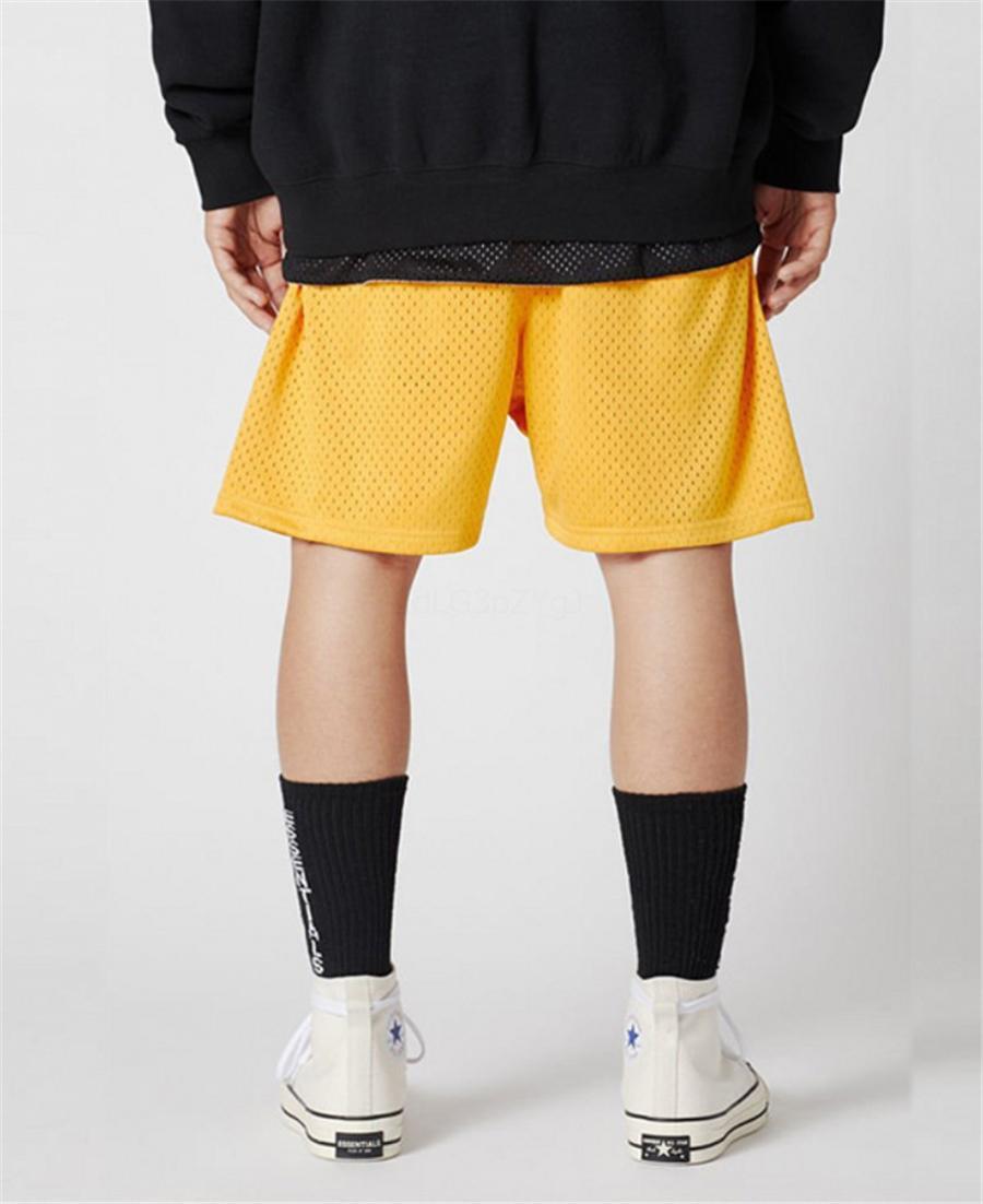 Essentials Mens Designer joelho estendido o comprimento das calças Moda Painéis cores Calças Curtas Casual cordão Shorts Essentials Mens Vestuário # 598