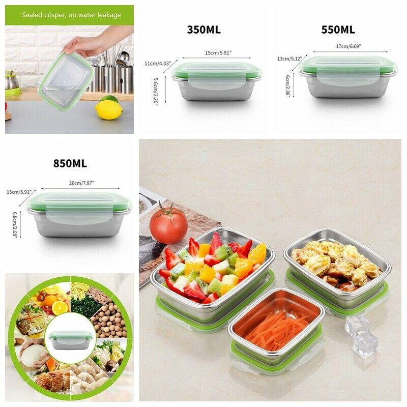 Nuovo 2020 in acciaio inox Fresh-Keeping Bento Box contenitore di immagazzinaggio di Crisper Student Lunch Box