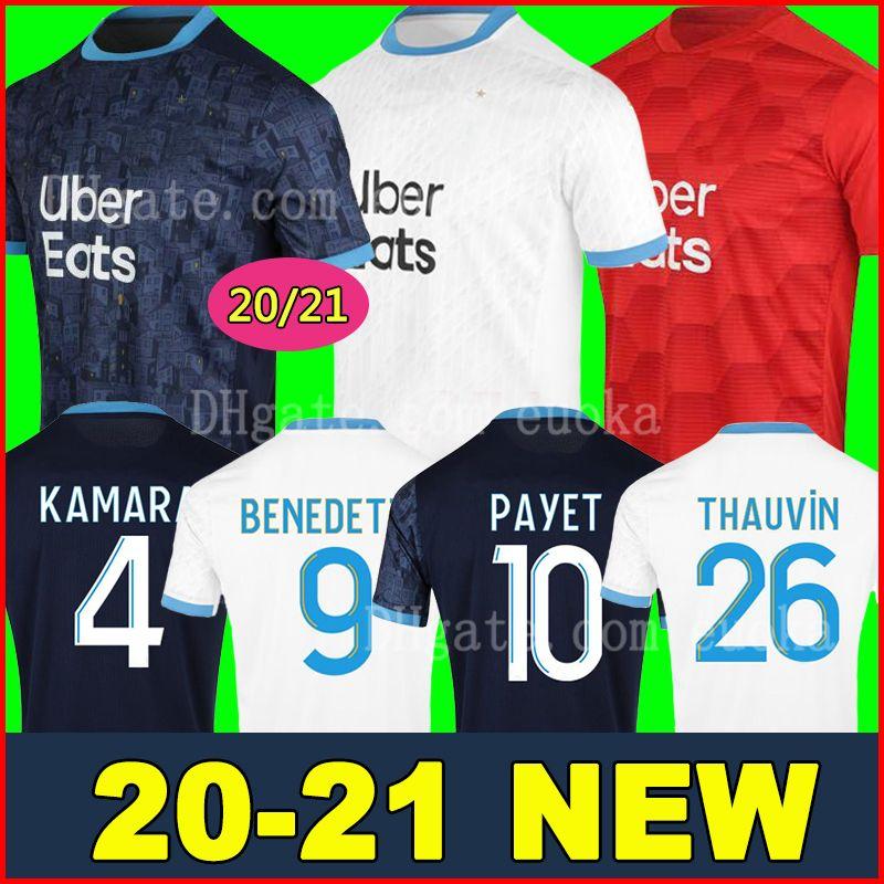 20 21 maglia da calcio Olympique de Marseille maglie OM 2020 2021 maglia da calcio PAYET THAUVIN maglia da calcio 120 anni 120 ° anniversario