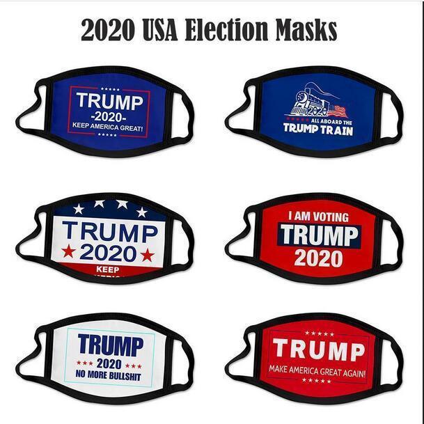 2020 US-amerikanische Wahlen Trump Gesichtsmaske Staubdichtes Universelles für Männer und Frauen amerikanische Mouth Muffel Wiederverwendbare Maske Druckmaske