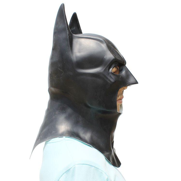 Бэтмен Маска Реалистичной Хэллоуин анфас Latex Бэтмен шаблон маска Костюм партия Маска Карнавал Cosplay Реквизит