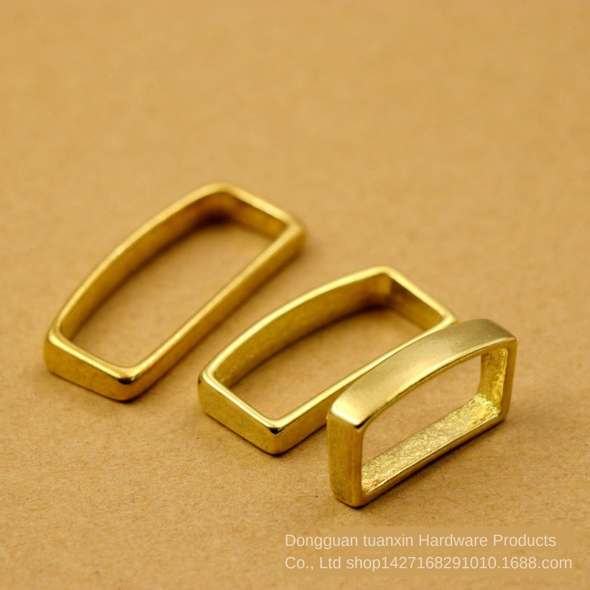Messing Zubehör reinem Kupfer Ring Gurtring Zubehör Gürtel Befestigungs Meson 4.0cm2.0cm Schwanz clip