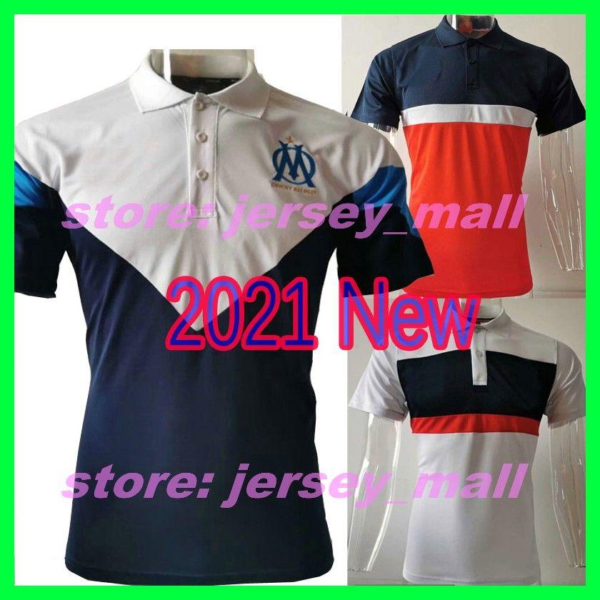 2020 21 مرسيليا الرجال لكرة القدم لعبة البولو قميص 20 21 كم قصير الفرنك RAMOS POGBA GRIEZMANN كرة القدم جيرسي الصيف الملابس الرياضية لكرة القدم نشط