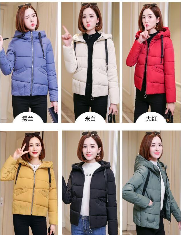 delle donne breve conservazione di inverno caldo di spessore giù il cotone imbottito giacche moda incappucciato cappotti del rivestimento imbottito parkaOuterwear