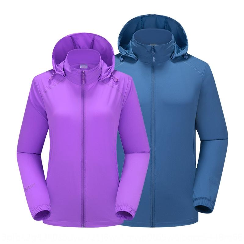 URg1u Summer thin couple breathable single-layer outdoor fashion quick-drying trench coat women's Windbreaker windbreakerOEM Summer thin cou