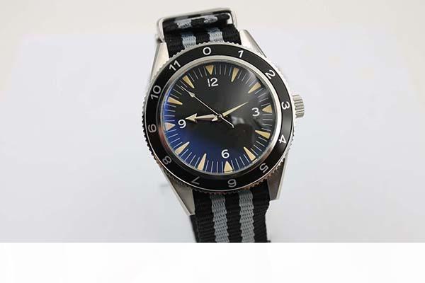 Nuevo estilo Mar Auto 300 Spectre edición limitada de los hombres del reloj de la correa de la tela del color de cristal del cronómetro James Bond Spectre masculino Watc