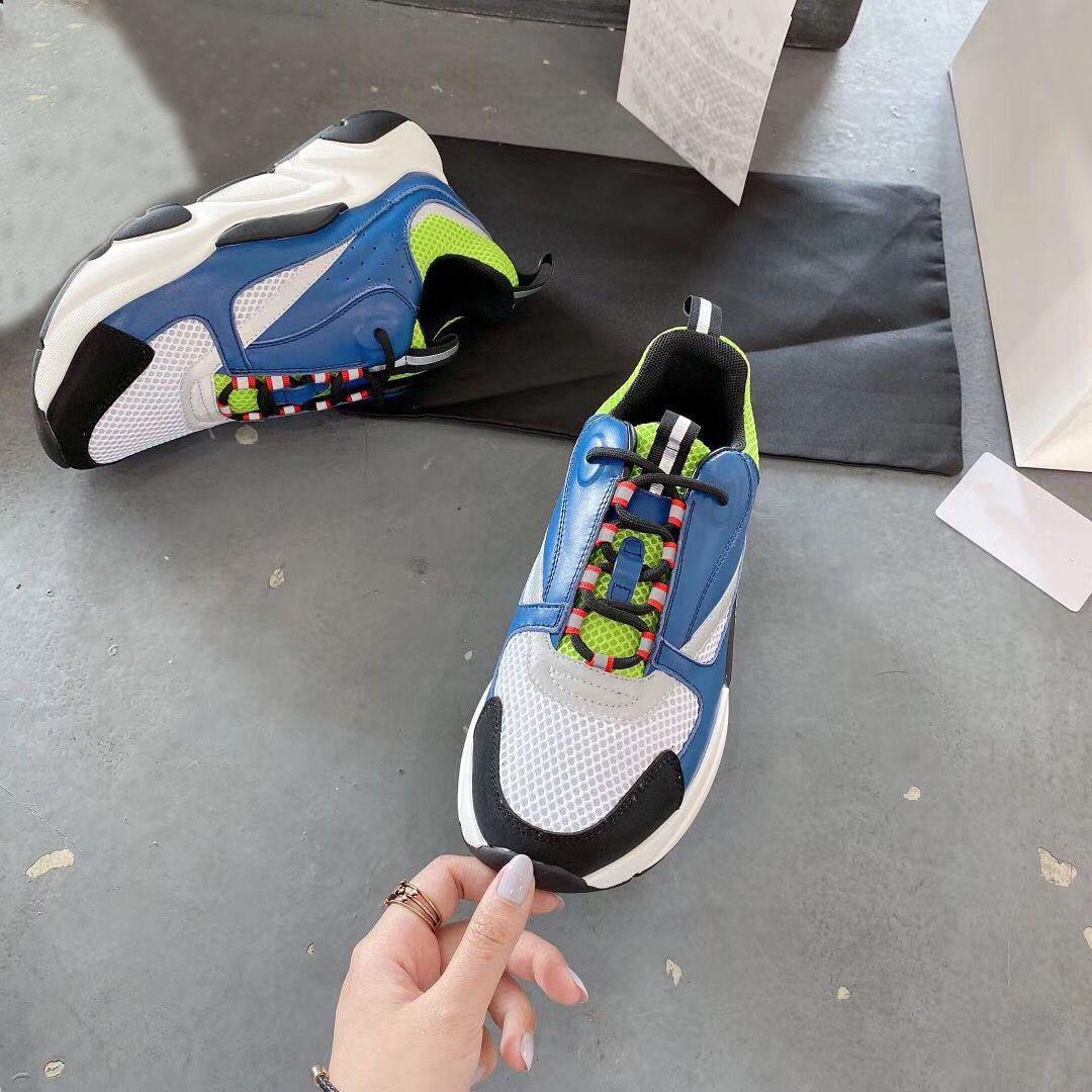 la plataforma del diseñador primavera verano zapatos casuales de cuero manera se divierten los zapatos de la mujer de encaje corriendo gruesa tamaño de los hombres de lujo de zapatos 35-45 inferior Bowling