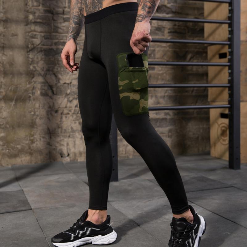 Pantalones para correr 2 parines Hombres Compresión Fitness Rápido Driso Deportes Gimnasio Entrenamiento Jogging Baselayer Leggings Medias