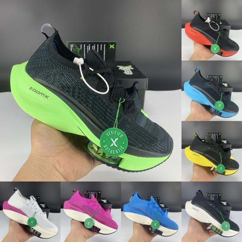 New fashion zoom alpha next% casual shoes black electric green bred tour yellow volt white orange fly men women Sneakers with box