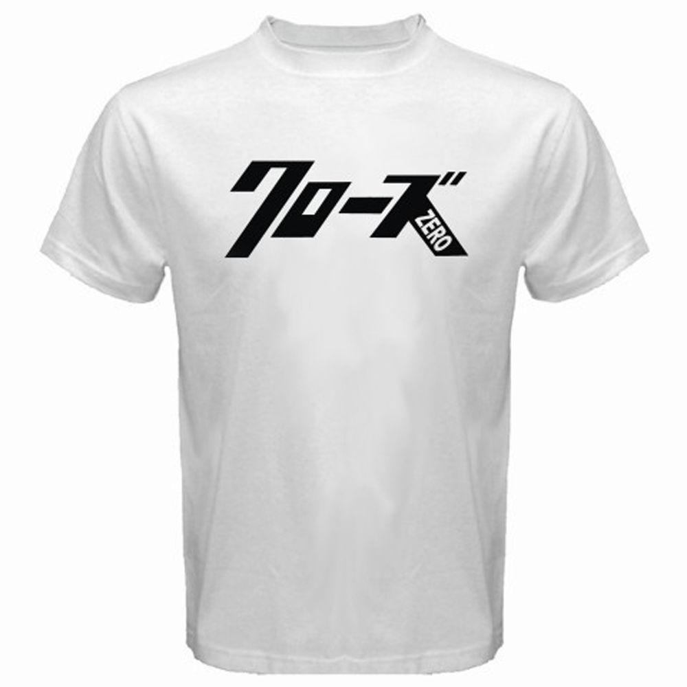Новый CROWS ZERO Logo Movie Cartoon Манга Мужские Белый Черный Футболка Размер Прохладный Повседневная гордость тенниска мужчин унисекс Мода