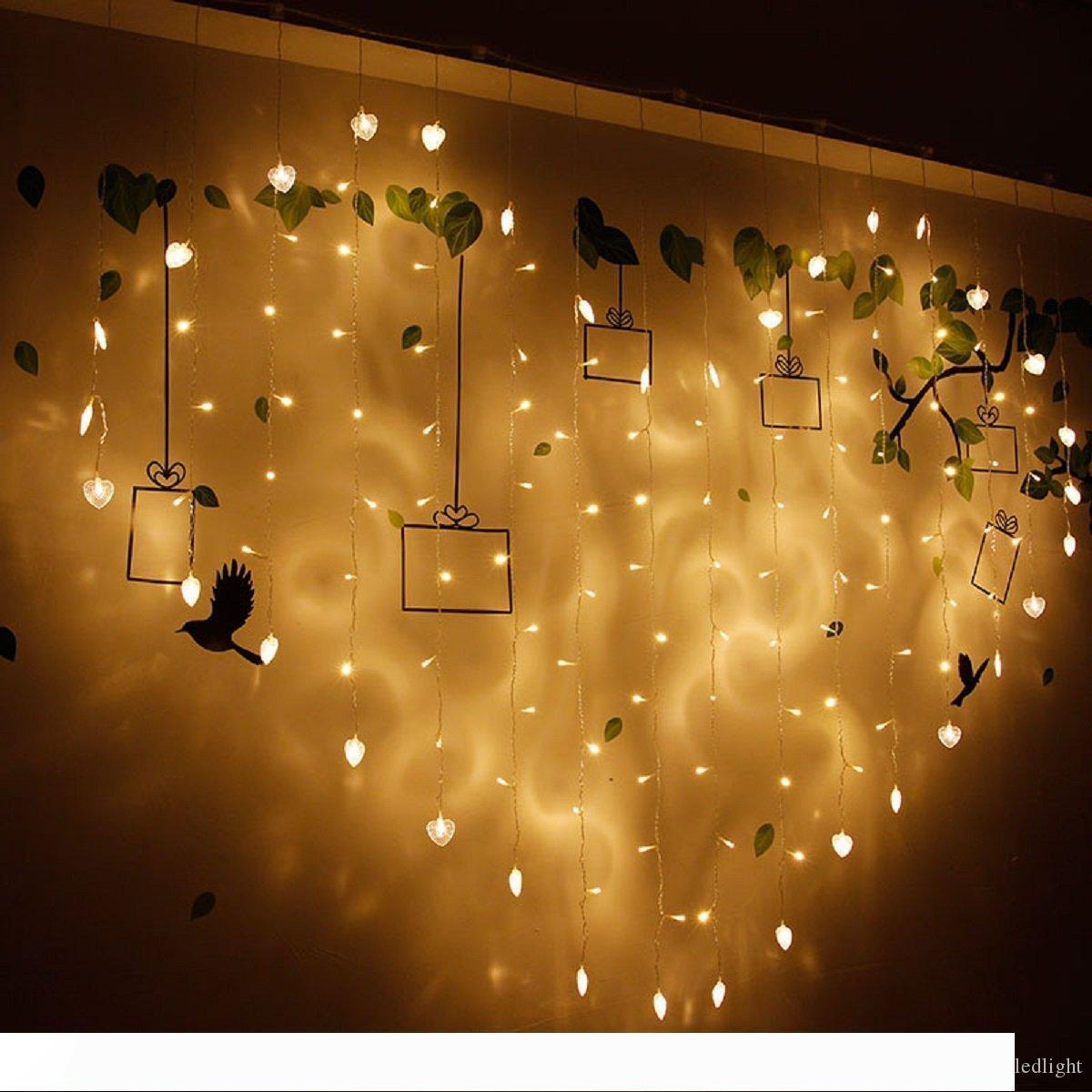 2m 1 5m Love Shape Led String Lights Curtain Wedding Hotel Valentines Day Holiday Lightings Luces Home And Garden Lights Outdoor Bulb String Lights String Of Light Bulbs From Misan121314 38 05 Dhgate Com