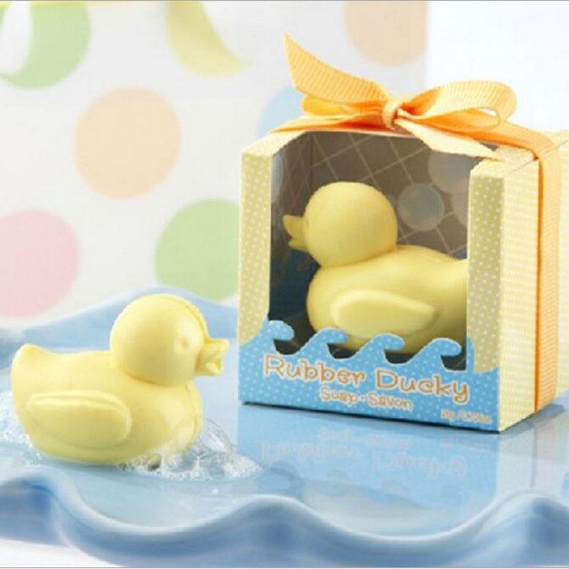 Düğün Favor Hediyeler 5.5 * 4.5 * 6,3cm için Moda El Yapımı Sabun Ducky Bebek Sabunu Kokulu Parti Ördek Favor