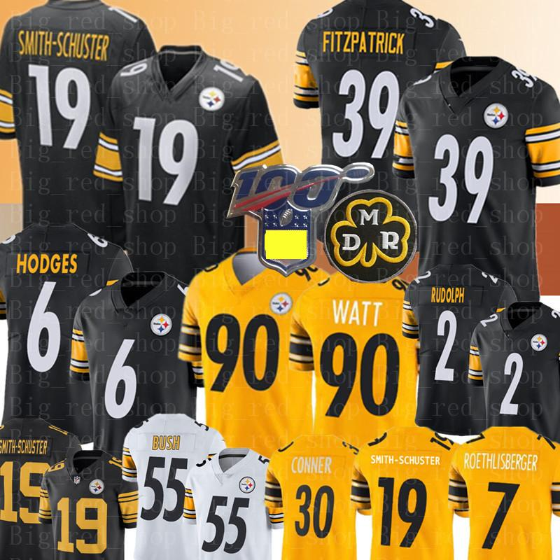 2020 6 Devlin Hodges 19 Juju Smith Schuster Jersey 39 Minkah Fitzpatrick 90 T J Watt Jerseys 2 Mason Rudolph 55 Devin Bush From Big Red Shop 15 68 Dhgate Com