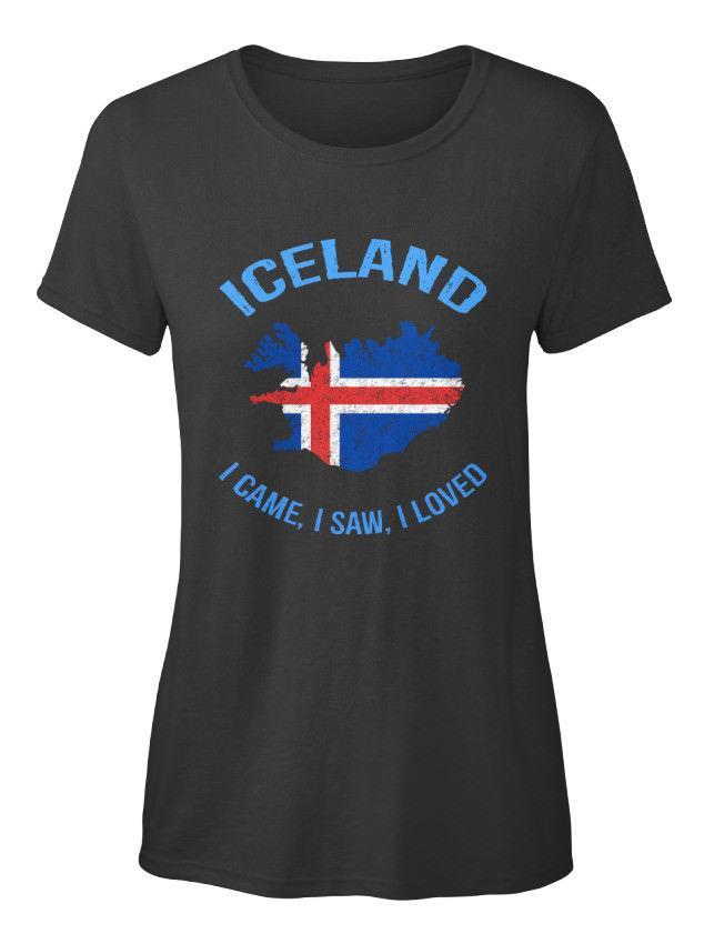 2020 heiße Verkaufs-Art- Weiche Island Ich kam, sah Loved - Standard T-Shirt T-Shirt