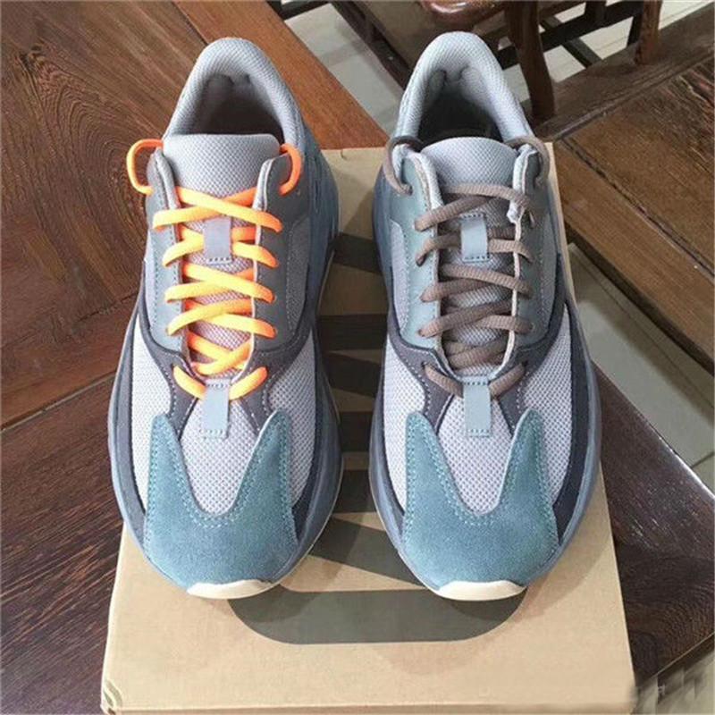 Оптовая продажа 700 волновой бегун Kanye West Carbon Teal Blue Solid Grey Vanta Inertia Статическая спортивная обувь Магнит Tephra Mauve Man дизайнер