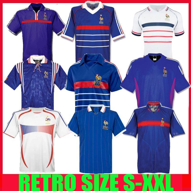 1998 فرنسا RETRO 2002 لكرة القدم بالقميص ZIDANE HENRY مايوه DE FOOT 1996 2004 قميص كرة القدم نهائيات تريزيغيه الذكرى السنوية 100th 2006 2000