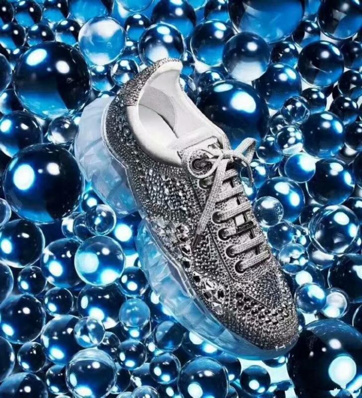 edição limitada Top venda quente qualidade jc luxo tênis Cristal piscar de camurça tênis baixos-top sapatos plataforma Womens cristal