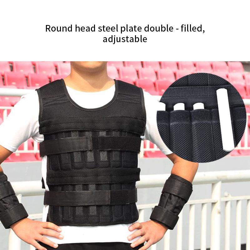 Esecuzione di peso di esercitazione di sabbia Caricamento Weighted Vest regolabile resistente Training Boxe ispessimento Esercizio Gilet Vest Fitness