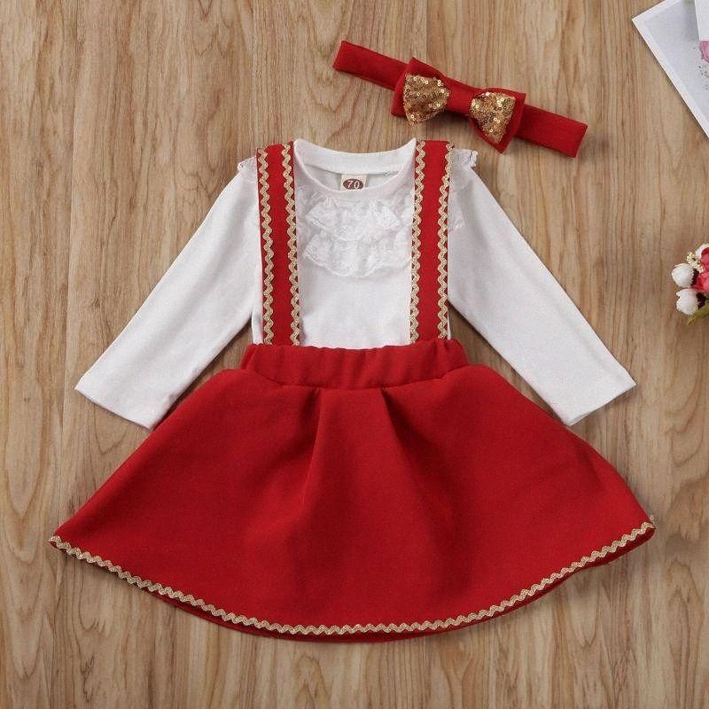 Newborn Toddler Kid Baby Girl Outfit Clothes Dress Tutu Skirt Set KejH#