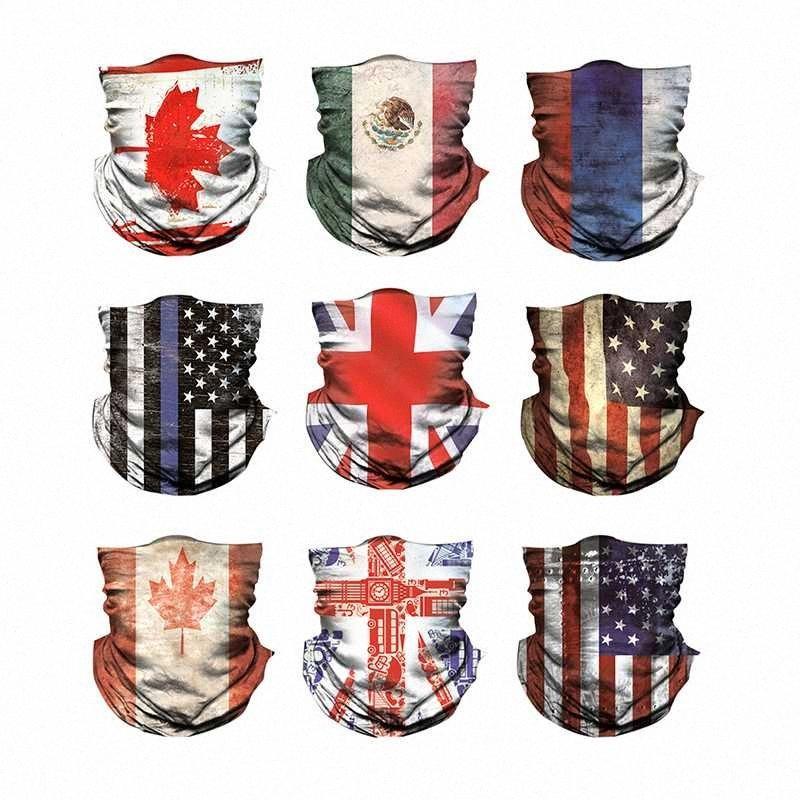 National Flag Printed Bandana Schal Multifunktionale Seamless Tubular Bandanas Schlauchschal Anti-Schweiß-Sonnenschutz Staubdichtes Stirnband EDEV #