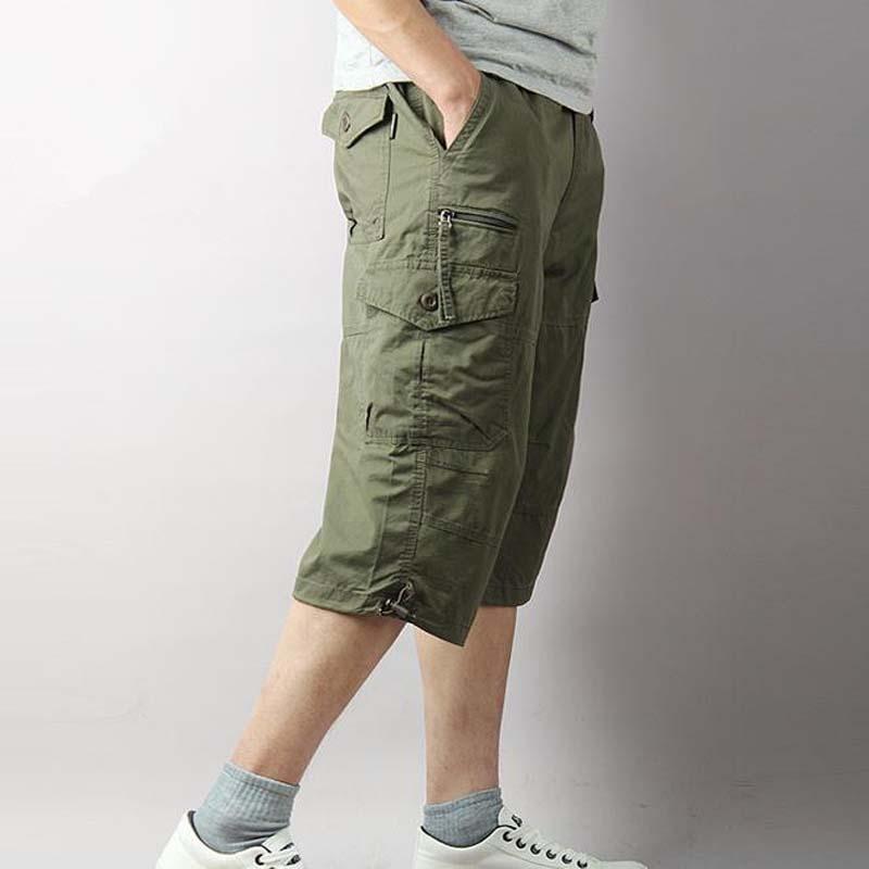 Pantalon pour hommes grand taille été mince 7 minutes décontractée Baggy lâche homme masculin pantalon court pantalon pour hommes