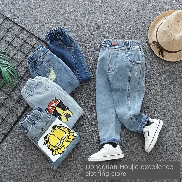 2020 Frühling und Sommer koreanischen Stil Jeans dünne Jeans Hosen der Kinder der Kinder Panty Hose ursprüngliche Fabrik Allgleiches