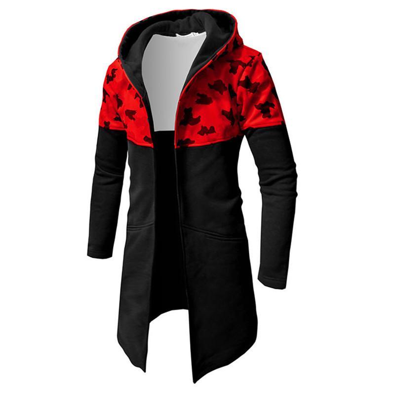 Herren-Designerkleidung beiläufige Hoodies Sweatshirts Zipper 2020 Autumn Herren-Jacken mit Kapuze Kragen Panelled Camouflage Außen Overcoat Outwear