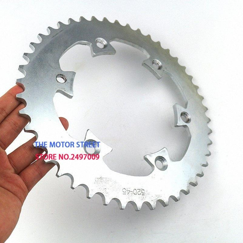 хорошее качество 6 отверстий 520 цепи 45 зуба внутренний diameter125mm Задний привод цепи Звездочки для мотоцикла обезьяны велосипеда мотоцикла Qskm #