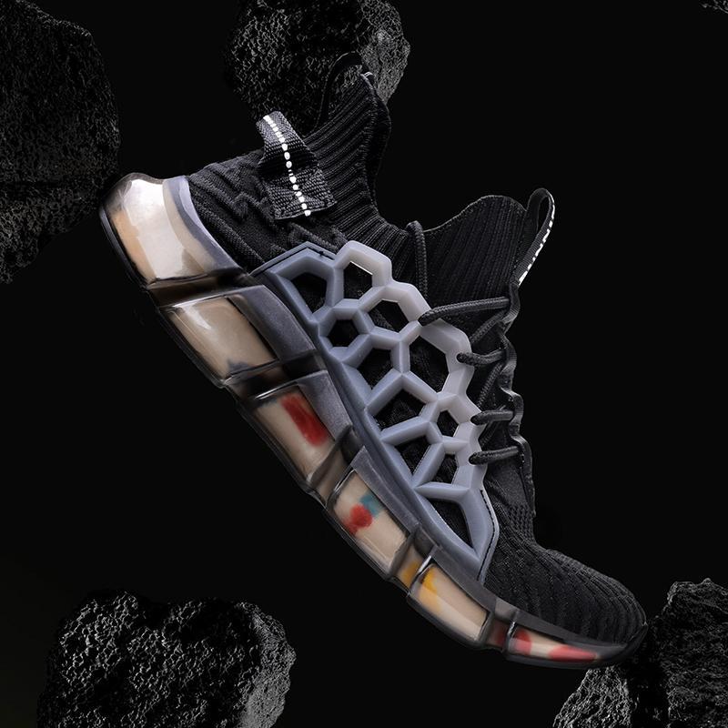 Marka Çorap Sneakers Man Açık Yürüyüş Spor Ayakkabı Atletizm Eğitmenler Nefes Mesh Soğuk Tenis Koşu Ayakkabı Koşu