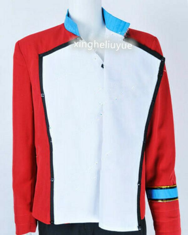 Star Trek II The Wrath Of Khan Cosplay Saavik Costume Uniform Red Jacket Suit