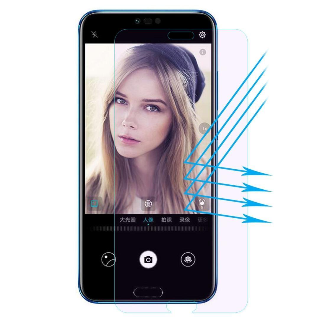 Chapeau Enkay prince 0.26mm 9H 2.5D Anti-ray Film bleu en verre trempé pour Huawei Honor 10