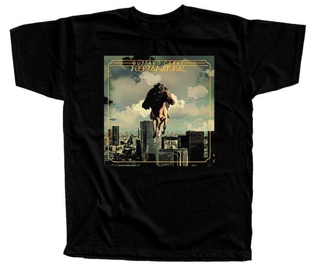 Gustavo Cerati - Fuerza Natural Cover Album T-SHIRT DTG (NERO) S-5XL Cotton Tee Shirt Summer Style Casual Wear