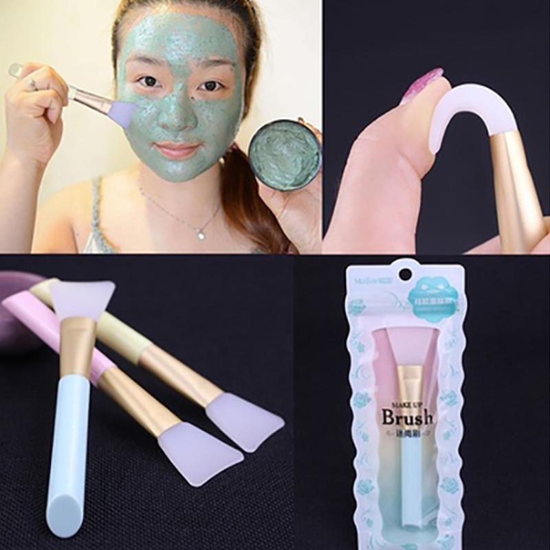 Nouveau silicone masque facial boue bricolage Brosse visage professionnel Crème Mélange Applicateur solide Maquillage Beauté Fondation Soins de la peau outil