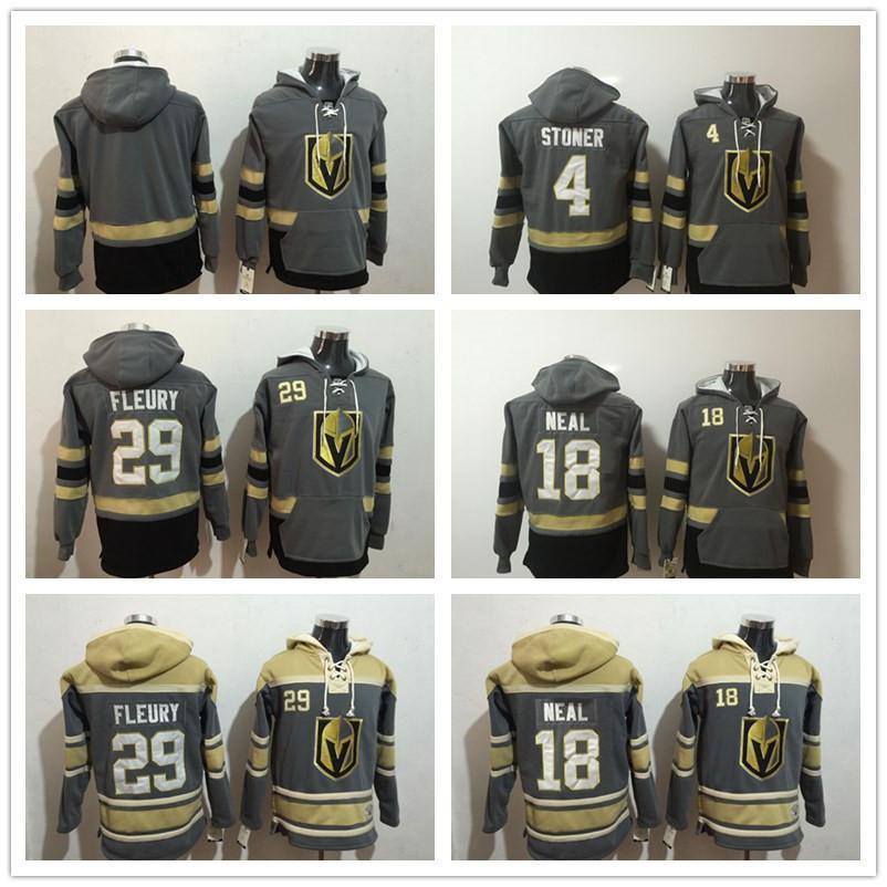 Vegas Goldene Knights Hoodies 29 Marc-Andre Fleury Hockey Hoody Jersey 18 James Neal 4 Clayton Stoner Sweatshirts Winterjacke 100% genäht