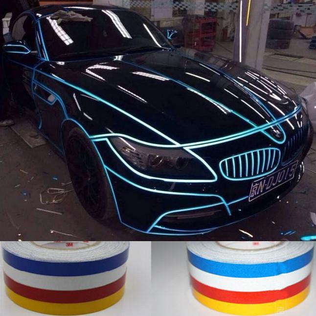 2cm * 5 외관 액세서리 보안 ID 바디 비닐 스티커 쿠퍼 BMW 포드 포커스 미니 높은 품질 오토바이 자동차 반사 데칼