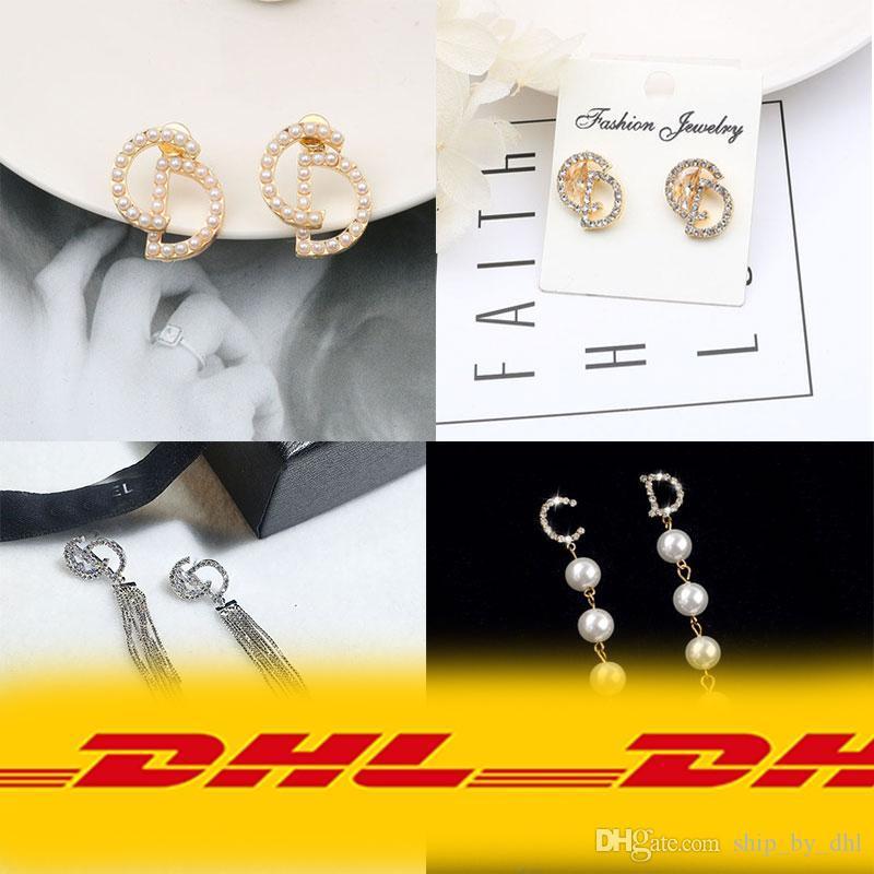 Gioielli DHL orecchini lettera famosa di modo delle donne orecchini orecchino squisito Charming di modo Offerta speciale