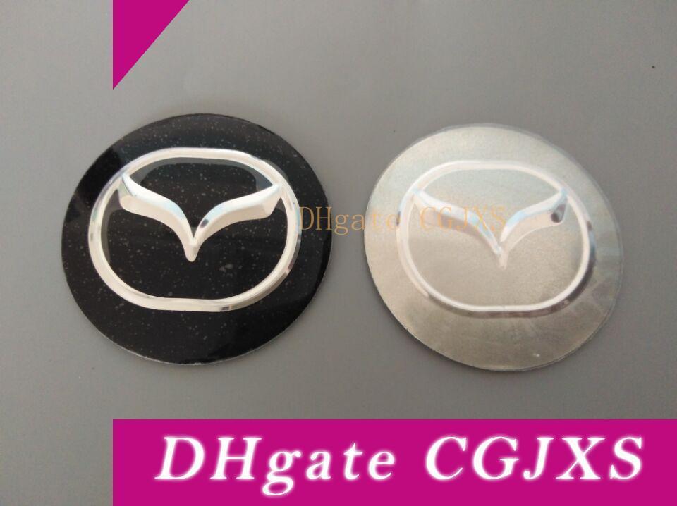56 .5mm Araba Rozet Tekerlek Merkezi Jant Kapağı Sticker Dayanıklı Logo Marka Amblemi Araba Aksesuar Karşıtı Fade Tekerlek Dekorasyon Fit For Mazda 3d
