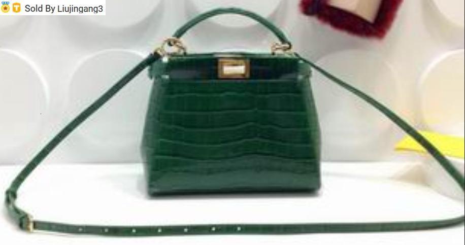 Liujingang3 6802 koyu yeşil Üst Boston Totes Omuz Crossbody Kemer Sırt Mini Çanta Bagaj Yaşam Bags Kolları