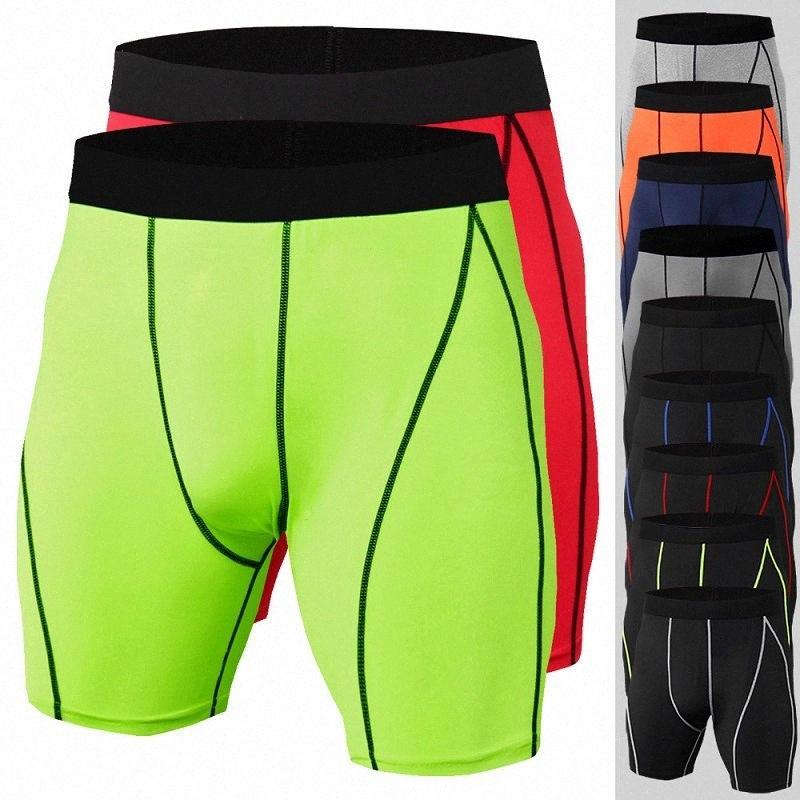 Erkek Spor Şort Yaz 2020 Yeni Sıkı Spor Koşu Eğitimi Spor Nefes Hızlı kuruyan Stretch Şort Spor Giyim j7Rr #