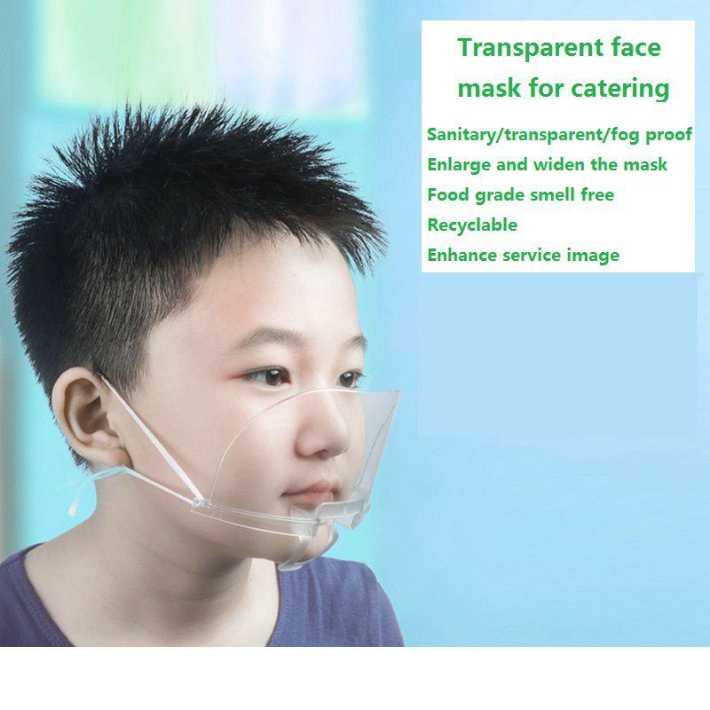 commestibile maschera trasparente Ristorazione cuoco personale antinebbia maschera di plastica ad alta tenacità anti-saliva mascherina igienica
