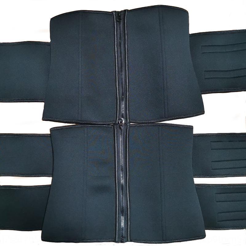 Néoprène chaud ventre fermeture éclair autocollant magique ceinture autocollant femmes sueur magique ceinture double