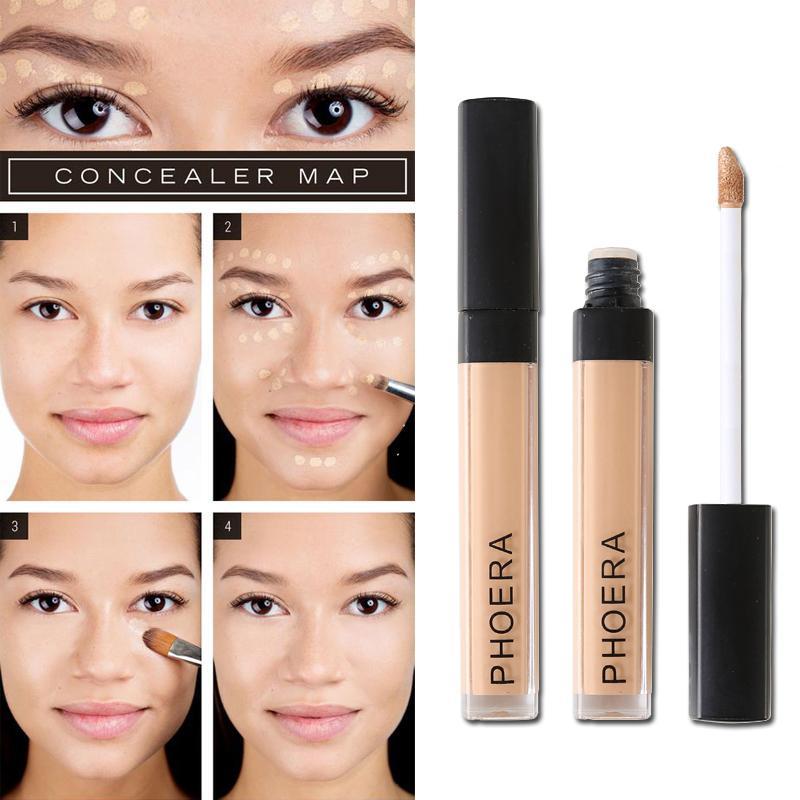 PHOERA Liquid Concealer Продолжительный Увлажняющий Pore Угри Foundation Обложка для лица макияж 10 цветов доступны