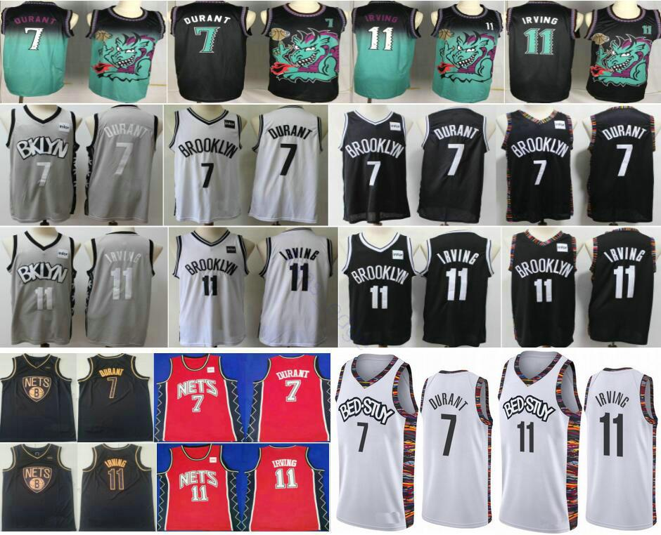 2020 New BrooklynNtes #7 Kevin Durant #72 Black Biggie 32 Erving 3 Petrovic 11 Mens Kyrie Irving Man Kids Youth Basketball Shirts Uniform