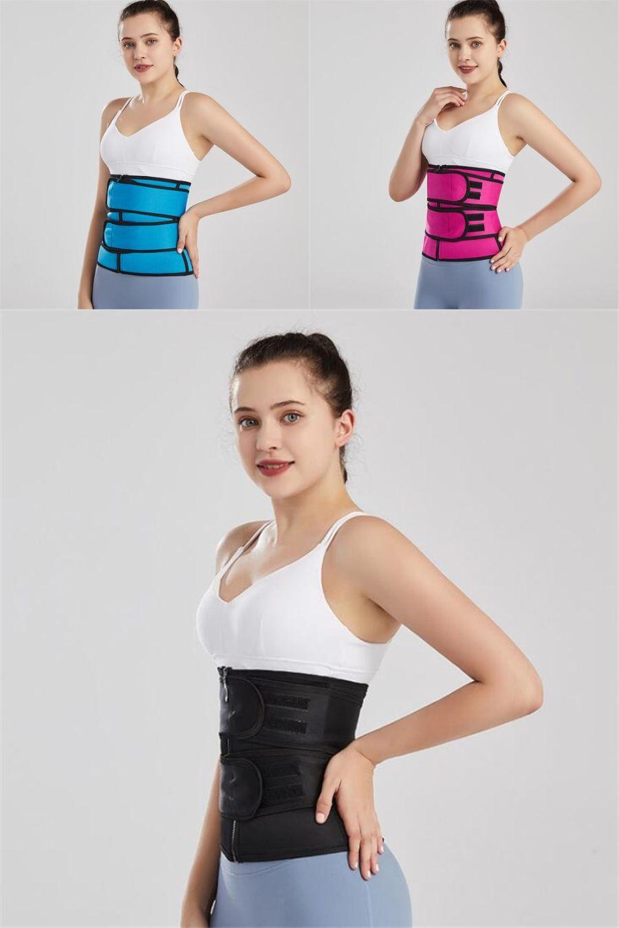 Bafully Sweat dimagrante Donne Vita Trainer della maglia del neoprene Body Shaper pancia di Controllo fitness top corsetto con la chiusura lampo Regolare la cinghia # 553