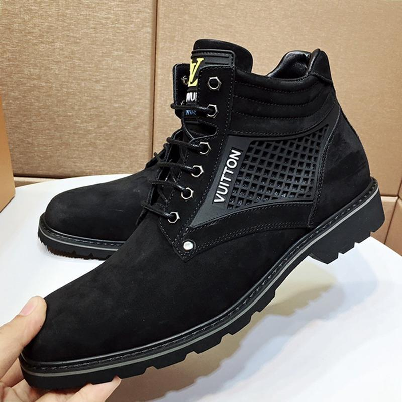 Fashion Mens Shoes Boots Chaussures Pour Hommes Breathable Mens Shoes Fashion Type Oberkampf Ankle Boot Zapatos De Hombre Martin Boots L566