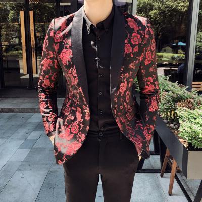 Les hommes du Parti Veste Hommes Blazer Hombre stade Chanteur Hombre Casual Slim Fit Floral Designer Veste Garçons Robes de bal 5XL printemps 2020